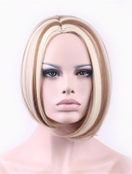 Points in The Curly Hair High Temperature Gradient Golden Silk Wig
