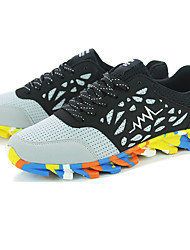 Men's Sneakers Fall / Winter Comfort Tulle Outdoor / Athletic / Running  Lace-up Black / Gray / Orange Walking /