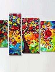 pronto para pendurar esticado árvore do dinheiro quadro de pintura a óleo pintados à mão decoração do Natal arte da parede