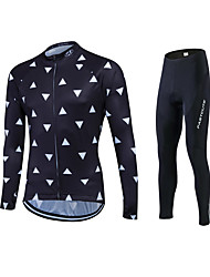 Fastcute Cycling Jersey with Tights Men's Women's Unisex Long Sleeves Bike Jersey Tights Pants/Trousers/Overtrousers Tracksuit Tops