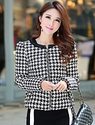 Manteau Doudoune Aux femmes Manches Longues simple Polyester