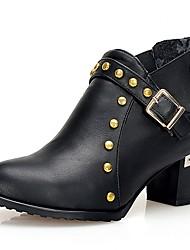 Feminino-Botas-Saltos / Plataforma / Botas Montaria / Botas da Moda / Botas de Motocicleta / Coturno / Inovador / Botas de Cowboy / Botas