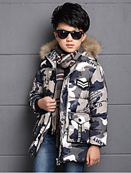 Boy's Casual/Daily Print Down & Cotton PaddedCotton / Rayon Winter / Spring / Fall Red / Gray