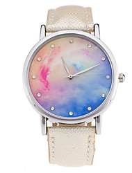 New Fashion Watch Women Star Sky Pattern Rhinestone Casual Quartz Watch Ladies Popular Leather Strap Elegant Wristwatch