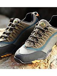 Unisexe-Sport-Marron / Gris / Kaki-Talon Plat-Confort-Sneakers-Cuir