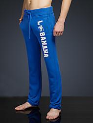 LOVEBANANA® Masculino Activo Calças Azul Real-38007
