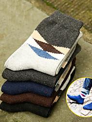 DOUBLE LIONS Men's Wool Socks 5/box-MM7051