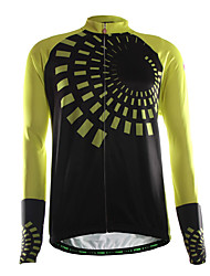 Sports Cycling Jersey with Bib Tights Men's Long Sleeve BikeBreathable / Thermal / Warm / Wearable / Lightweight Materials / 3D Pad /