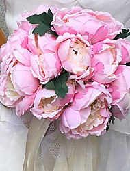 """Wedding Flowers Round Peonies Bouquets Wedding Party/ Evening Satin 9.84""""(Approx.25cm)"""