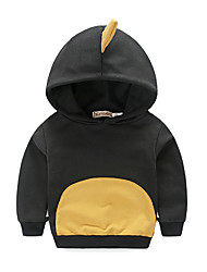 KIMOCAT Boy's Casual/Daily Print Hoodie & SweatshirtCotton Spring / Fall Black-sy225