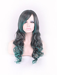 European And American Fashion Lady Long Foreign Trade High Temperature Wire Cos Wig