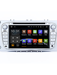 7 2 DIN android 5.1.1 lollipop de som do carro HD Radio 1024 * 600 gps tela muti-touch para o foco Ford Mondeo 2 s-max