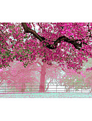 3D Effect Non-woven Large Mural Wallpaper Pink Flowers Tree Art Wall Decor Wall Paper