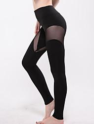 Legging Couleur Pleine / Croisé Polyester Femme