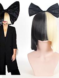Femme Perruque Synthétique Court Raide Noir Avec Frange Perruque de Cosplay Perruque de fête Perruque Déguisement