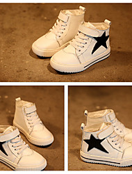 Unisex Sneakers Fall / Winter Flats Leather Casual Flat Heel Braided Strap Black / White / Black and White Sneaker
