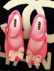Girl's Sandals Spring / Summer / Fall Sandals PVC Outdoor / Casual Flat Heel Bowknot Blue / Pink / Red Walking