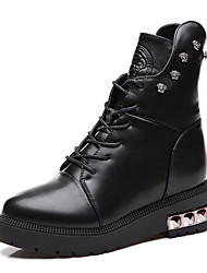 Women's Boots Winter Riding Boots Leather Outdoor / Office & Career / Casual Flat Heel Sparkling Glitter Black Others