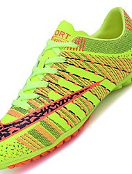 Men's Athletic Shoe Comfort Synthetic Outdoor / Athletic Flat Heel Lace-up Black / Blue / Green / Red / Orange