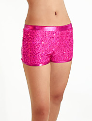 Performance Bottoms Women's / Children's Performance Spandex / Sequined Paillettes / Sequins 1 Piece Fuchsia / Gold