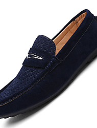 Men's Loafers & Slip-Ons Comfort Leatherette Casual Flat Heel Lace-up Black / Gray / Navy / Khaki Others