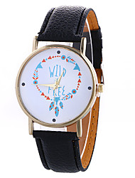 Girl Quartz Watch Clock Women Leather Casual Dress Women's Christmas Feather Wristwatch Cool Watches Unique Watches