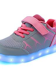Garçon-Décontracté-Bleu Rose-Talon Plat-Confort Light Up Chaussures-Baskets-Polyuréthane