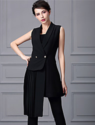 Baoyan Women's Peter Pan Collar Sleeveless Above Knee Dress-888067