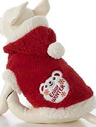 Lovely Keep Warm Bear Patterns Pet Coat