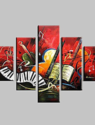 Hand-Painted Abstract Landscape Fantasy Abstract LandscapeModern Five Panels Canvas Oil Painting For Home Decoration
