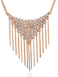 May Polly  Europe is luxury diamond Tassel Necklace