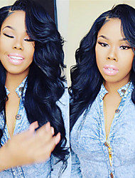 Peruvian Human Hair Body Wave Lace Front Human Hair Wigs For Women Middle Part Lace Front Wig With Baby Hair