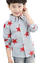 Tee-shirts Boy Imprimé Décontracté / Quotidien Coton Automne Bleu