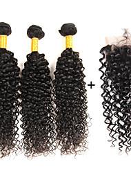 """4 Pièces Kinky Curly Tissages de cheveux humains Cheveux Brésiliens 8""""-26"""" Extensions de cheveux humains"""