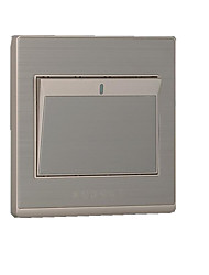 um interruptor de parede de controle único aberto