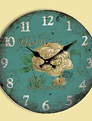 Modern/Zeitgenössisch Familie Wanduhr,Kreisförmig Anderen 34*34*3cm Drinnen Uhr