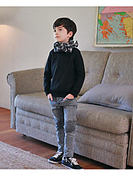 Menino de Calças,Casual Listrado Algodão Outono Preto