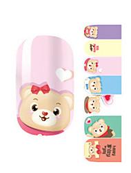 Fashion Love Winnie the Pooh Bear Nail Decal Art Sticker Gel Polish Manicure Beautiful Girl
