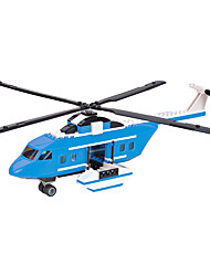 Building Blocks For Gift  Building Blocks Model & Building Toy Aircraft Plastic Above 6 White / Blue Toys