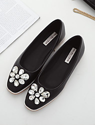 Women's Flats Spring / Summer / Fall Flats PU Casual Flat Heel Sparkling Glitter Black / White Others
