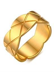 Ring Kreisförmiges Titanstahl Kreisform Gold Schmuck Für Alltag 1 Stück