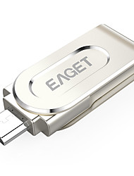 Eaget V88-16G 16GB USB 3.0Resistente à Água / Encriptado / Resistente ao Choque / Tamanho Compacto / Rotativo / Suporte de OTG (Micro
