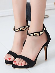 Women's Sandals Summer Open Toe Dress Stiletto Heel Others Black / Gold Walking
