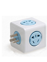 Power Intelligent Cube Socket With Usb Charging Lightning Plug Row Vertical Multi-Functional With Creative Plug