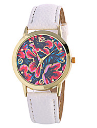 Fashion Girl Quartz Watch Clock Women Leather Casual Dress Women's Flower Wristwatch Hot Cool Watches Unique Watches