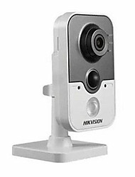 HIKVISION DS-2CD2410FD-IW  Onvif 1.0MP PoE IR Cube Network IP Camera(Built-in Mic Wi-Fi PIR)