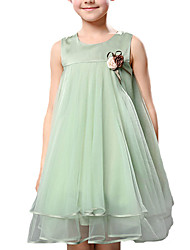 Girl's Casual/Daily Solid DressPolyester Summer Green / Purple