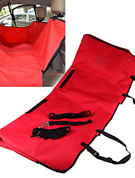Cat / Dog Car Seat Cover Pet Covers Waterproof / Foldable Red / Black / Blue / Brown / Gray Fabric