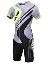 MALCIKLO® Cycling Jersey with Shorts Men's Short Sleeve BikeBreathable / Quick Dry / Front Zipper / Wearable / High Breathability