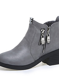 Women's Boots Fall / Winter Fashion Boots / Combat Boots Leather Outdoor / Casual Low Heel Zipper